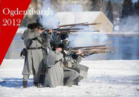 Re-enactors stage battle in Ogdensburg